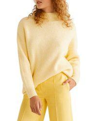 Mango - Long-sleeve Textured Sweater - Lyst