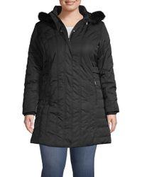 Weatherproof - Plus Faux Fur-trimmed Jacket - Lyst
