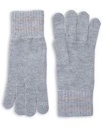Lord & Taylor - Heathered Stripe-cuff Gloves - Lyst