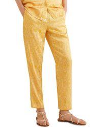 Mango - Paisley Pull-on Pants - Lyst