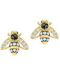 Swarovski - Magnetic Crystal Bee Stud Earrings - Lyst