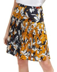 French Connection - Aventine Drape Printed Skirt - Lyst