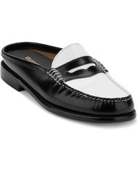 G.H. Bass & Co. - Wynn Iconic Patent Leather Penny Mules - Lyst