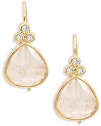 Tai - Faceted Stone Drop Earrings - Lyst