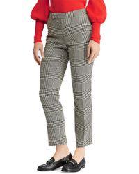 Lauren by Ralph Lauren - Glen Plaid Mid-rise Skinny Pants - Lyst