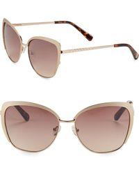 Vince Camuto 58mm Cat Eye Sunglasses - Metallic