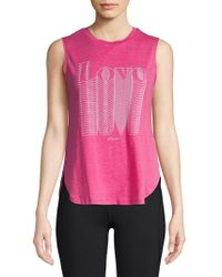 Betsey Johnson - Overlapping Love Muscle Sleeve Tank Top - Lyst