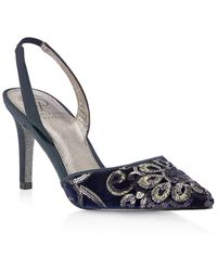 Adrianna Papell - Houston Embroidered Slingback Court Shoes - Lyst