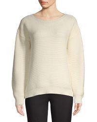 Jones New York - Balloon-sleeve Thermal Sweater - Lyst