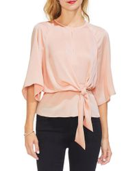 Vince Camuto - Gilded Rose Bell-sleeve Blouse - Lyst