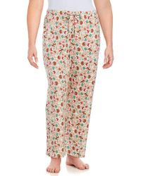 Lord & Taylor - Printed Drawstring Trousers - Lyst