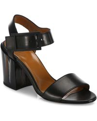 Aquatalia - Fredia Leather Block Heel Sandals - Lyst