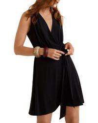 Mango - Sleeveless Wrap Dress - Lyst