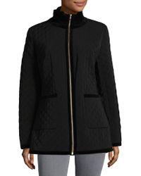 Jane Post - Turtleneck Quilted Zip Jacket - Lyst