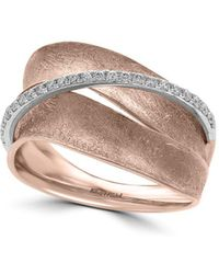 Effy - Pave Rose Diamonds And 14k White Gold Ring - Lyst