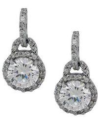 Lord & Taylor - Crystal Drop Earrings - Lyst