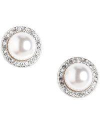 Nadri - Faux Pearl Earrings - Lyst