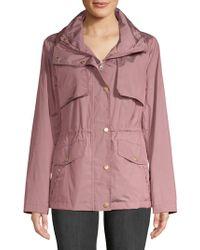 Cole Haan - Snap Front Zip Collar Jacket - Lyst