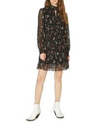 Sanctuary - Floral-print Smocked Dress - Lyst