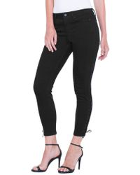 Liverpool Jeans - Alyssa Lace-up Ankle Skinny Jeans - Lyst