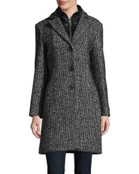 Cinzia Rocca - Long Sleeve Tweed Coat - Lyst