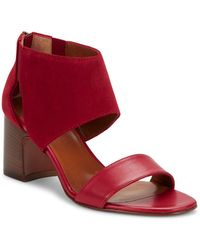 Aquatalia - Enid Leather And Suede Sandals - Lyst