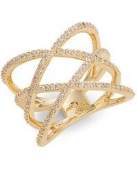 Nadri - Cubic Zirconia Crisscross Ring - Lyst