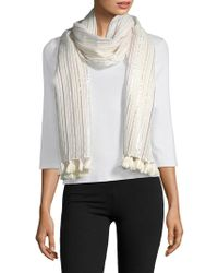 Lord & Taylor - Multicolored Stripe Scarf - Lyst
