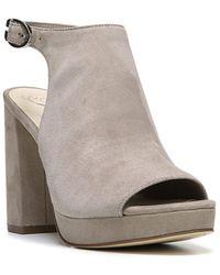 Fergie - Carmyn Leather Platform Sandals - Lyst