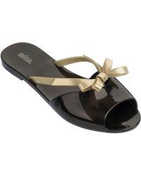 Melissa - Ela Knotted Slide Sandals - Lyst