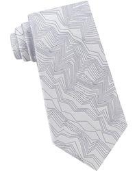 Calvin Klein - Modern Zigzag Silk Tie - Lyst