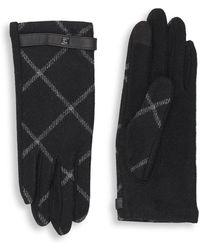 Lauren by Ralph Lauren - Plaid Wool-blend Gloves - Lyst