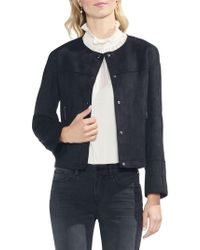 Vince Camuto - Snap-button Suede-look Jacket - Lyst