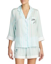 Betsey Johnson - Two-piece Wifey Pajamas - Lyst