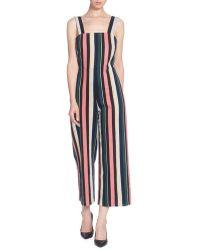Catherine Malandrino - Tuesday Striped Cotton Jumpsuit - Lyst