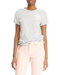 Lauren by Ralph Lauren - Embroidered Short-sleeve Tee - Lyst