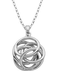 Lord + Taylor - High Polished Geometric Knot Pendant Necklace - Lyst
