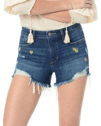 Joe's Jeans - Cut-off Embroidered Daisy Shorts - Lyst