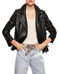 Mango - Liz Full-zip Biker Jacket - Lyst