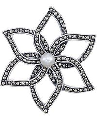 ef7b97fac Judith Jack Sterling Silver Cubic Zirconia 1012 Ct Tw Marcasite 114 ...