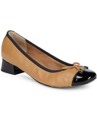 Vionic - Leather Cap Toe Heels - Lyst
