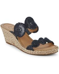 Jack Rogers - Shelby Whipstitched Leather Sandals - Lyst