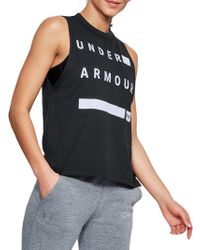 Under Armour - Logo Muscle Tank - Lyst
