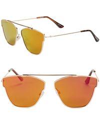 Steve Madden - 63mm Square Sunglasses - Lyst