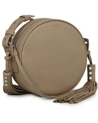AllSaints - Kepi Round Leather Crossbody Bag - Lyst