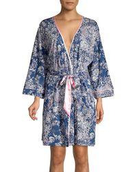 Sesoire - Printed Cotton Blend Robe - Lyst
