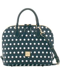 Dooney & Bourke - Carolina Dotted Zip Satchel - Lyst