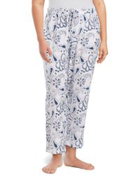 Lord & Taylor - Plus Drawstring Cotton Pants - Lyst