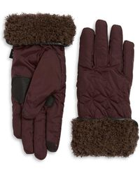 Echo - Geometric Faux Fur Gloves - Lyst