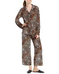 N Natori - Leopard Print Velvet Pyjama Set - Lyst